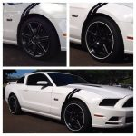 white Dodge Charger with white RimBlades rim protectors