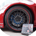 red RimBlades alloy wheel rim protector kit