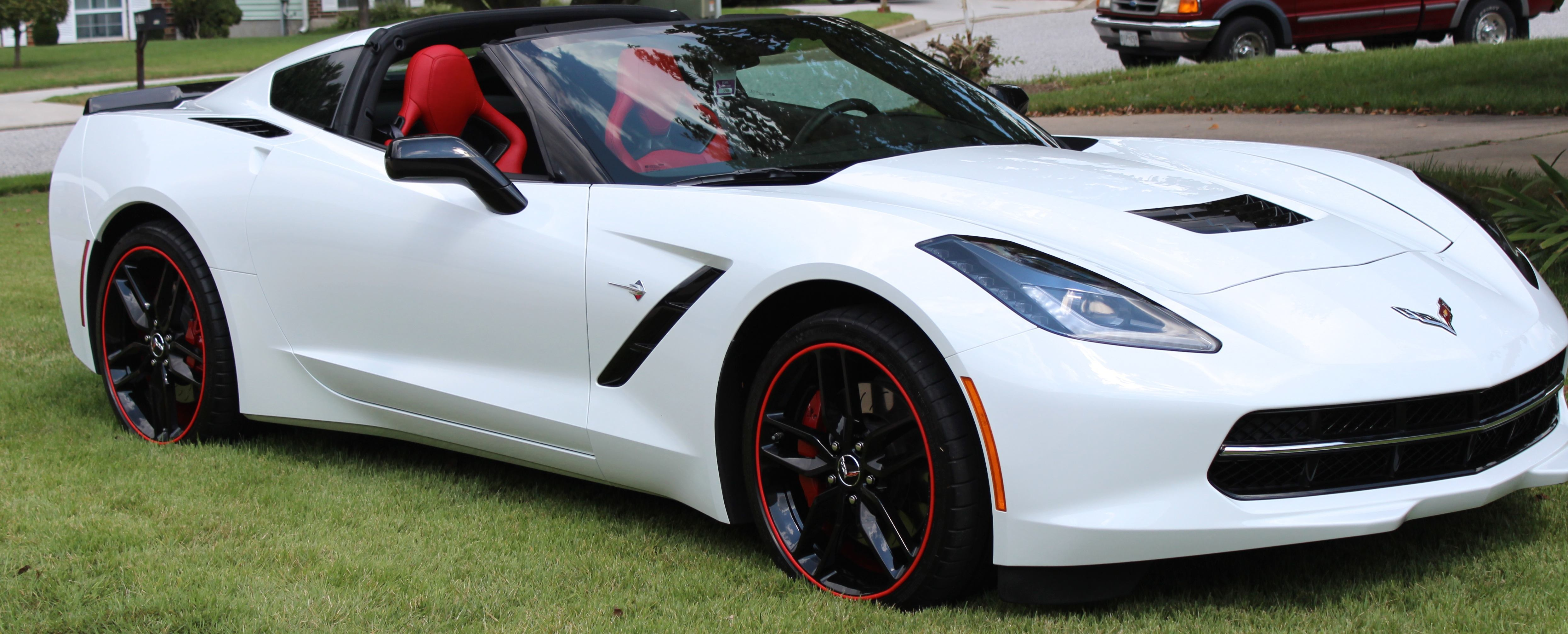white corvette red rimblades - 2016 Corvette Stingray And Z06 Spice Red Design Package