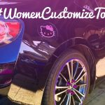 #WomenCustomizeToo car with purple RimBlades rim protectors