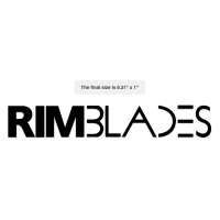 Black RimBlades Sticker