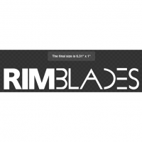 White RimBlades Sticker