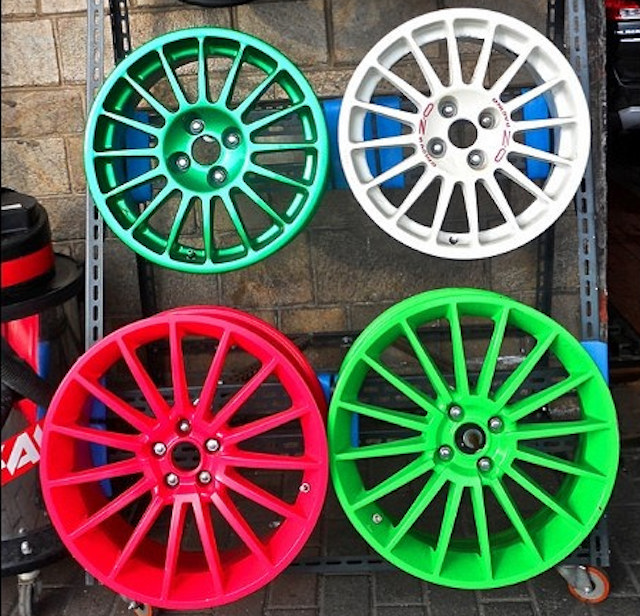 Powder coated colorful wheel rims
