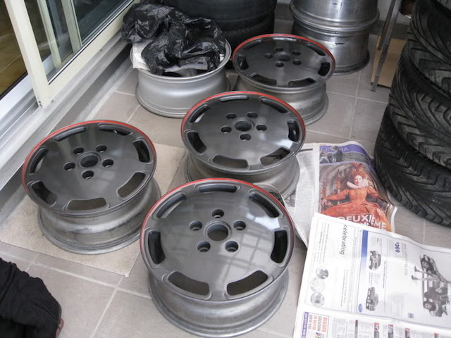 Refinished wheels