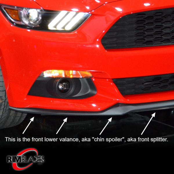 Lower valance or chin spoiler or splitter
