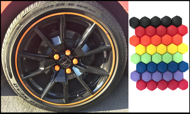 colorful lugnut covers