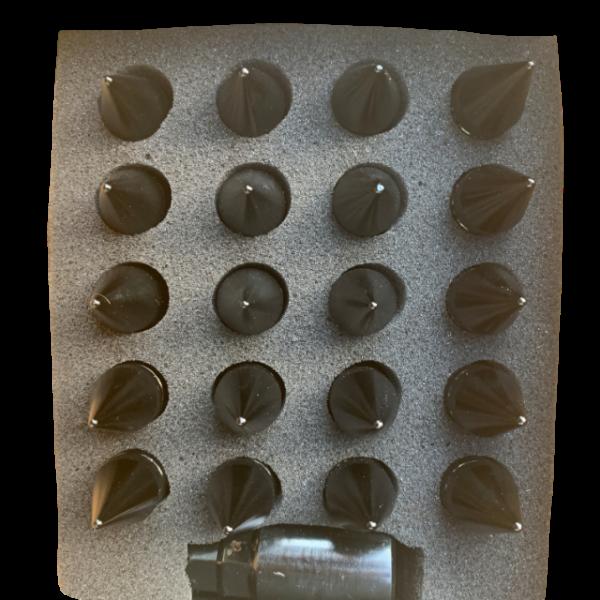 Black Spike Style Lug Nuts In Box