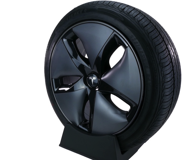Black Tesla wheel