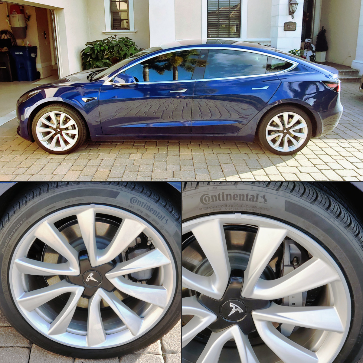 Model 3 performance wheel protection strips