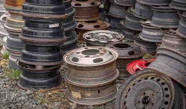 wheels in Junkyard