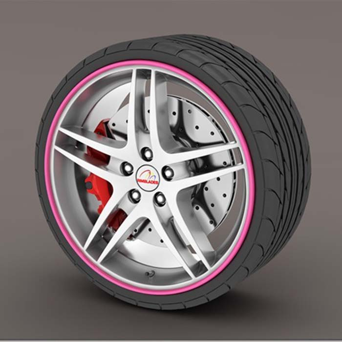 Pink RimSaver Rim Protectors